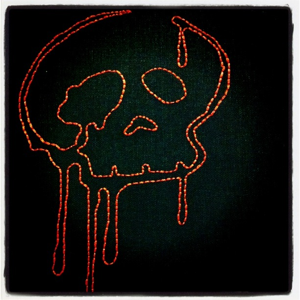 Red Skull Embroidery (2012)