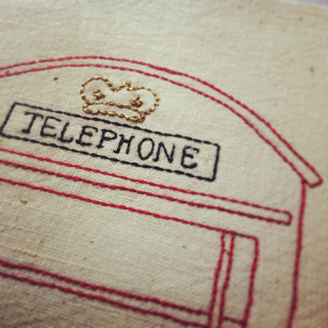 London Phone Box - Gold Thread Detail (2013)