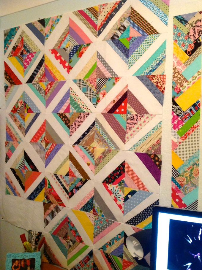 One more block to piece & then it's ready to be sewn together!
