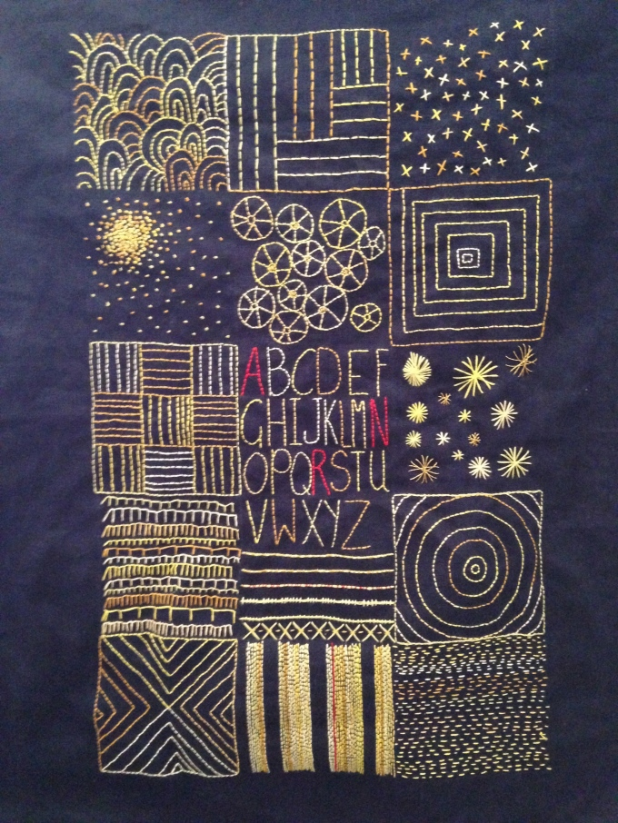 Yellow Embroidery Sampler