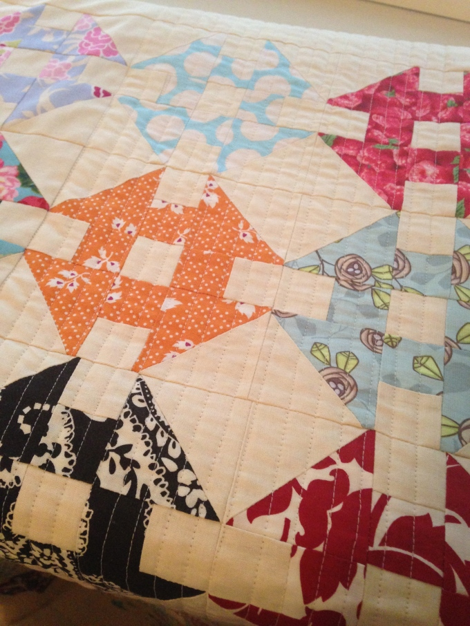 The quilt in it's current state!