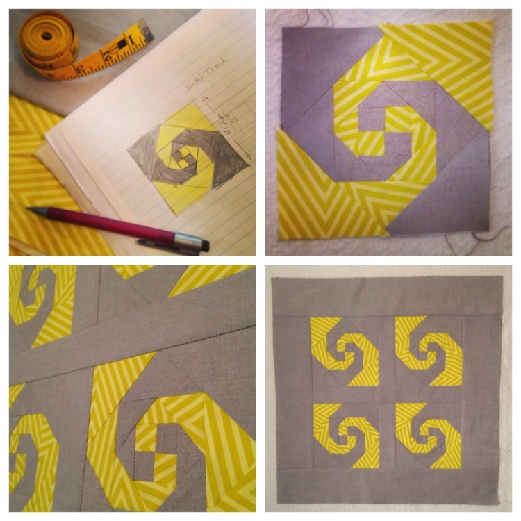 Start to Finish | Mini Snail Trail Block