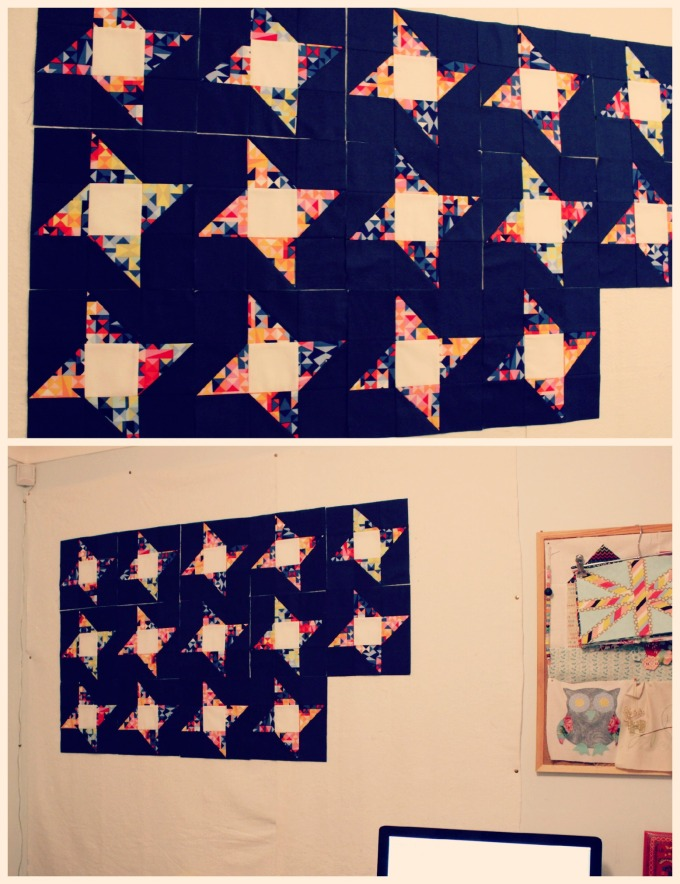 Top: 14 blocks completed! Bottom: The perspective shot!