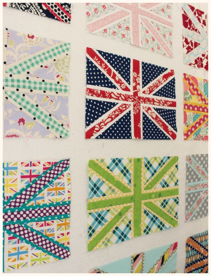 Paper Pieced Union Jacks