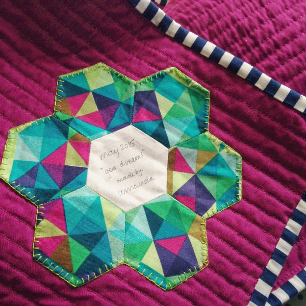 Geo Dreams Quilt Label