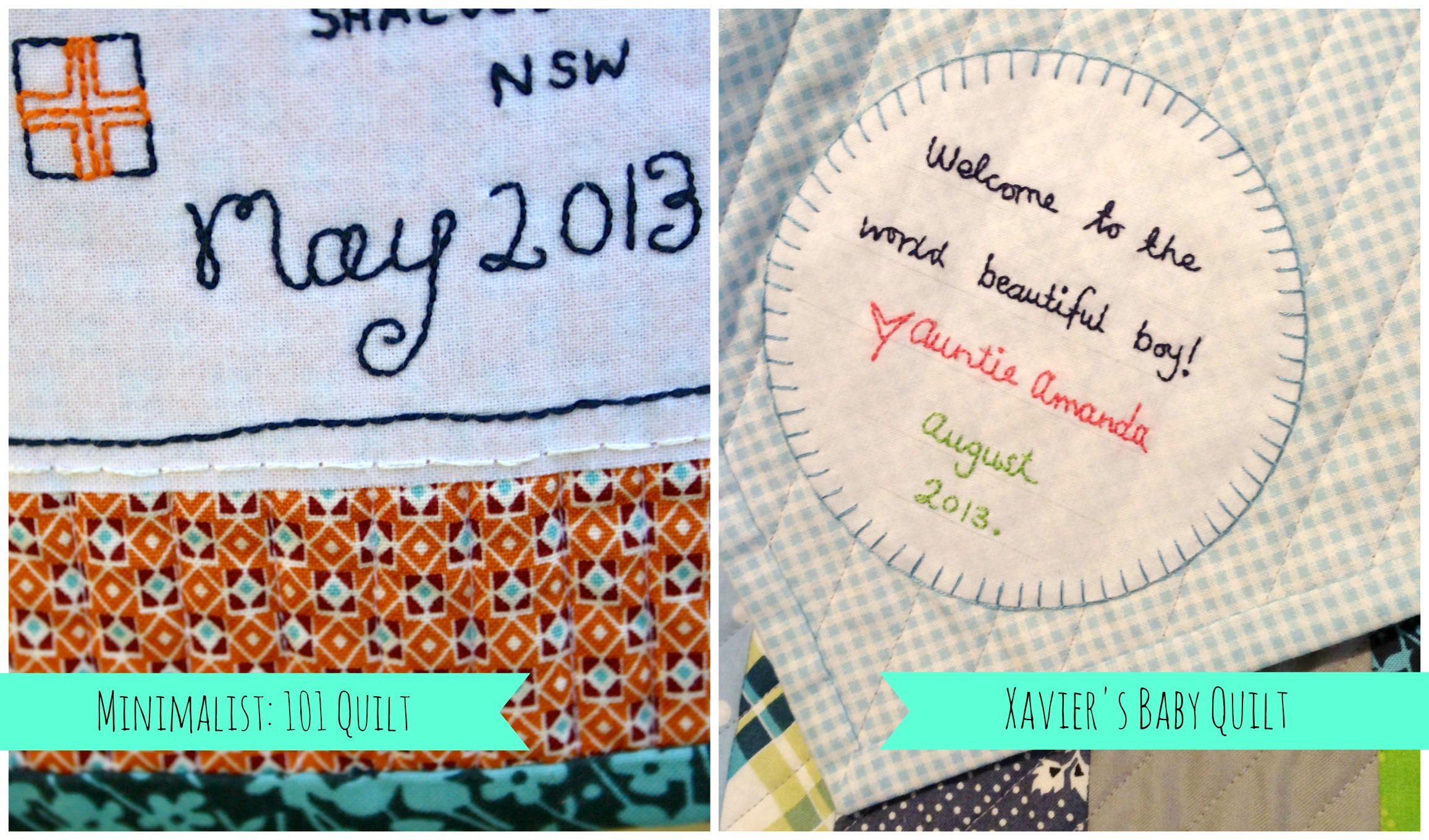 It is a photo of Punchy Printable Quilt Labels