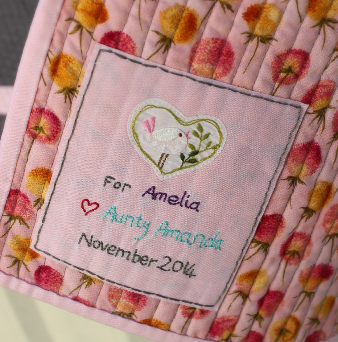 It is an image of Playful Printable Quilt Labels
