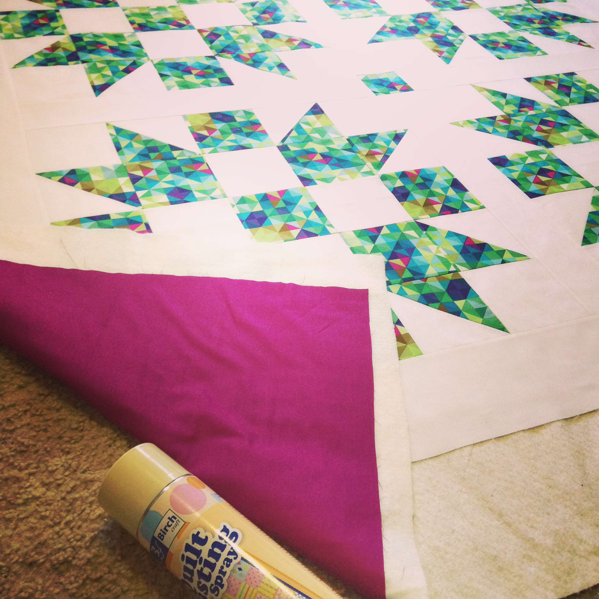 Quilt Along With Me Part Three Backing Batting