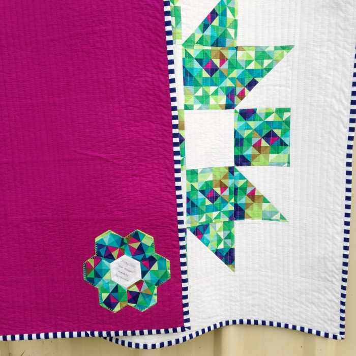 Geo Dreams Quilt & Label (2015)