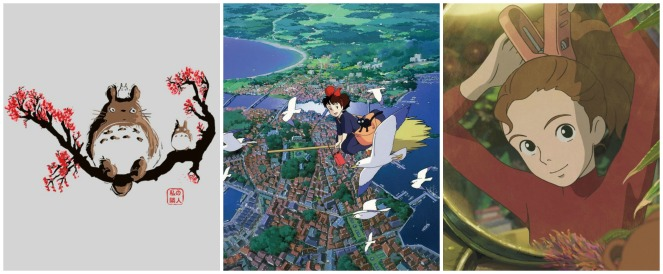 My Neighbor Totoro, Kiki's Delivery Service & Arriety