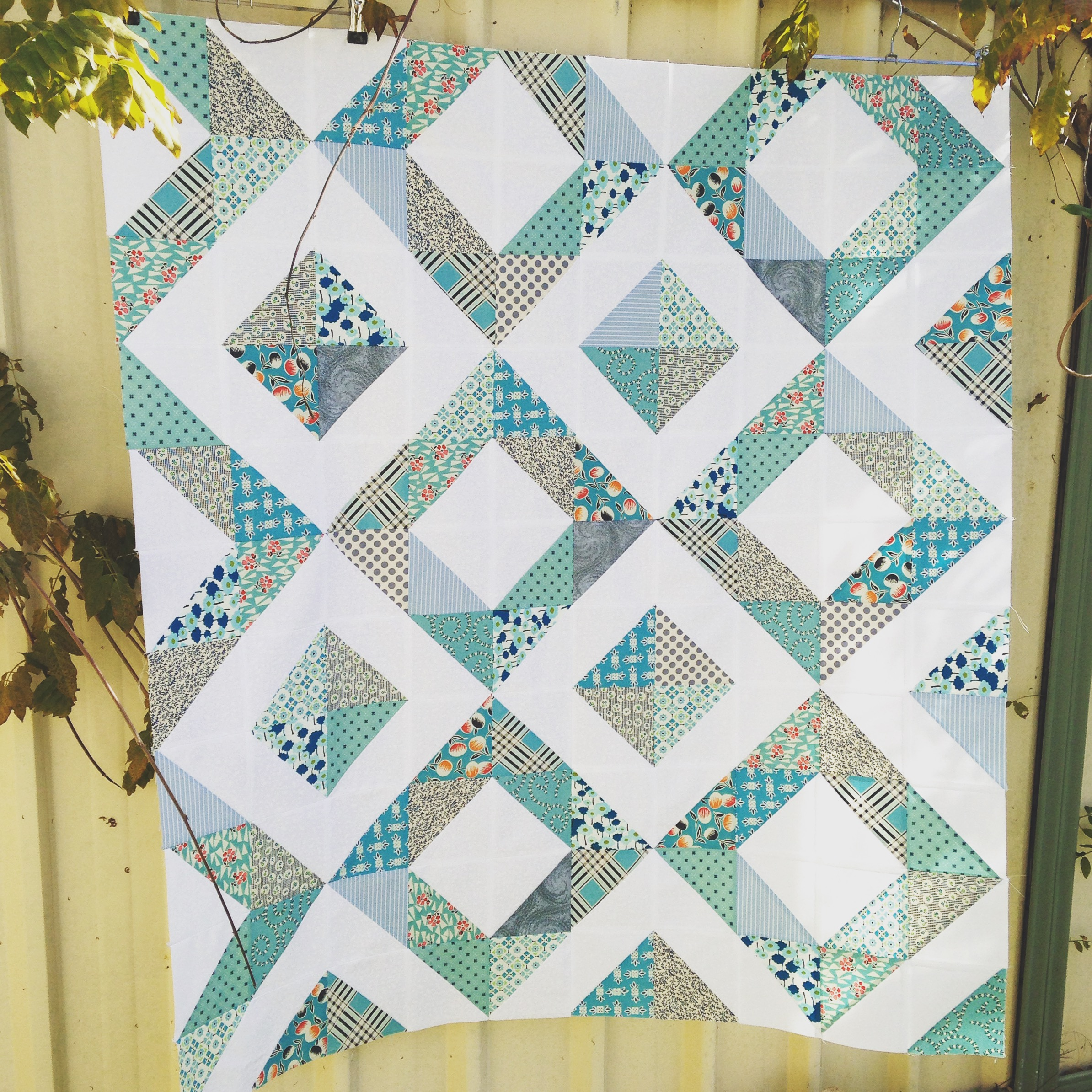 TUTORIAL: Diamond Square Block – 3and3quarters : diamond quilts - Adamdwight.com