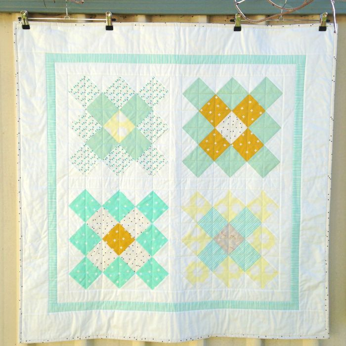 Granny Squares Baby Quilt (2015)