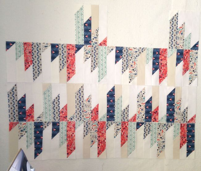 Hmm...Perhaps I need to re-jig the layout to get the excitement back for this quilt...?