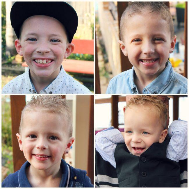 The Boys: Caleb, Ayden, Noah & Xavier.
